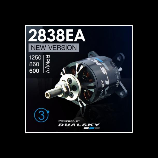 Dualsky XM2838EA-10 V3, 1250KV børsteløs motor.