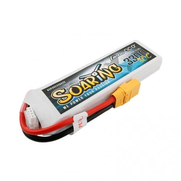 Gens ace Soaring 3300mAh 11.1V 30C Lipo batteri.