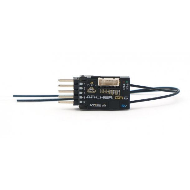 GR6 Archer/ACCESS modtager/variometer til FrSky sendere, 6 kanaler.