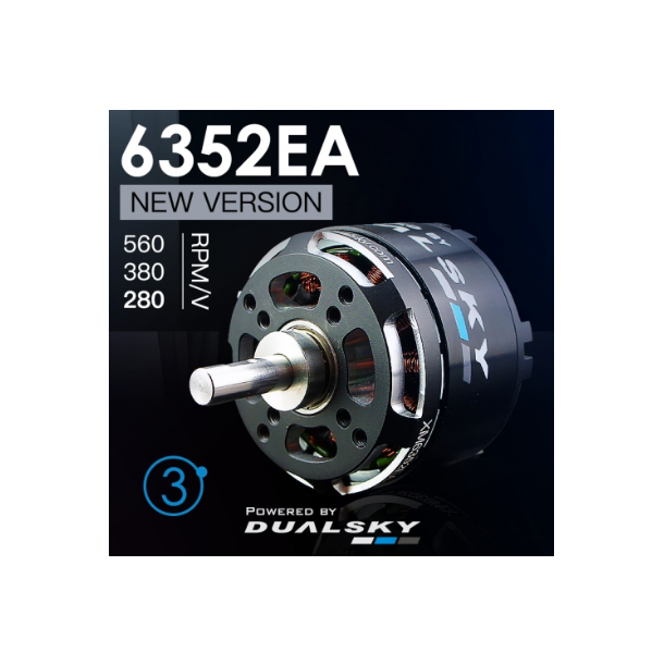 Dualsky XM6352EA-20 V3, 280KV børsteløs motor.