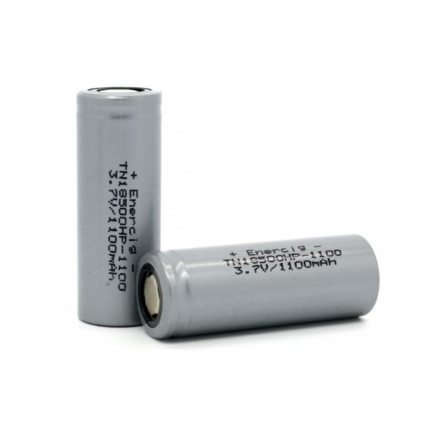Enercig 18500, 1100 mAh batteri.