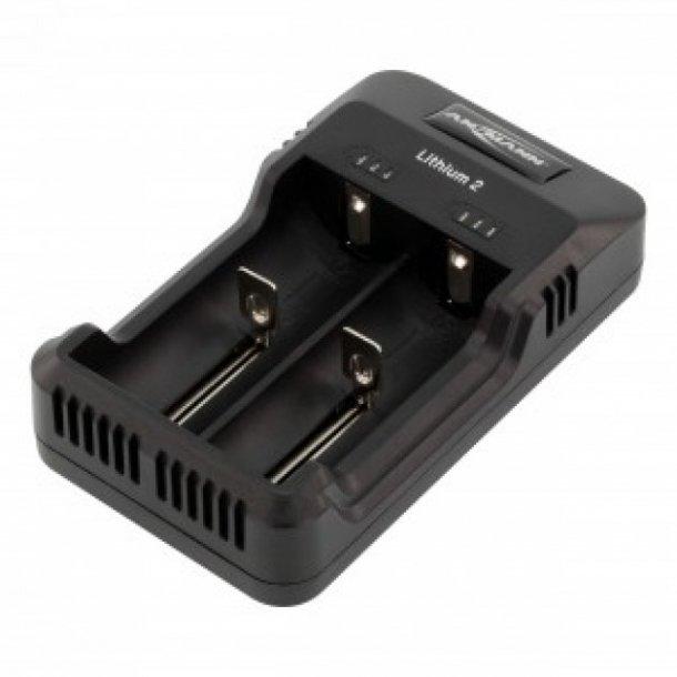 Ansmann Li-ION & Ni-MH oplader til 18650 batterier.