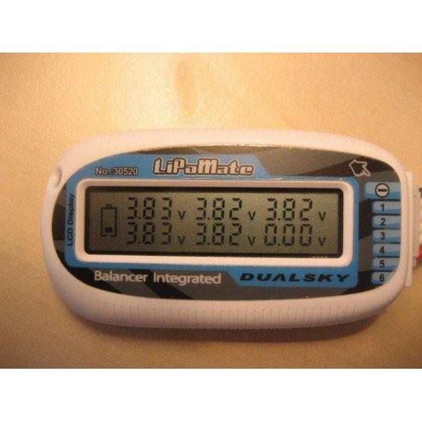 6 celles voltmeter/balancer fra Dualsky, LiPo Mate.