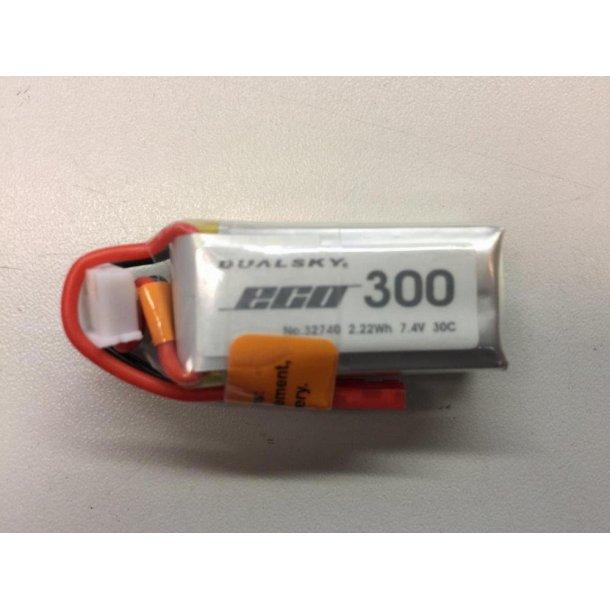 Dualsky LiPo batteri, 300mAh-2s, 30C