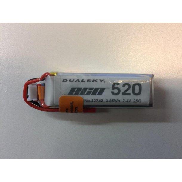 Dualsky LiPo batteri, 520mAh-2s, 25C