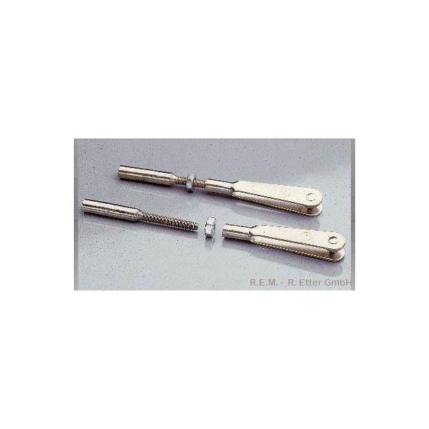Link med gevindstykker M2, 2 stk