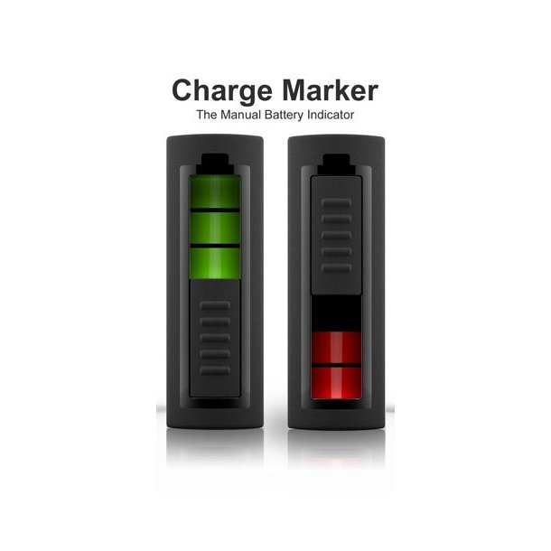 Lademarkør til batterier, 4 stk