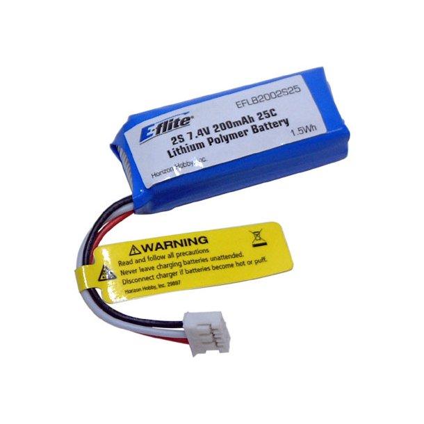200mAh-2s LiPo til Ultra-Micro MIG 15 og Habu