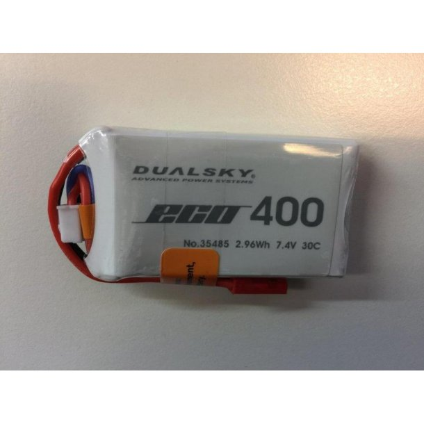 Dualsky LiPo batteri, 400mAh-2s, 30C
