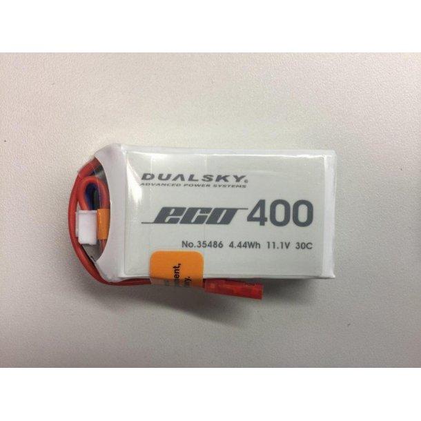 Dualsky LiPo batteri, 400mAh-3s, 30C
