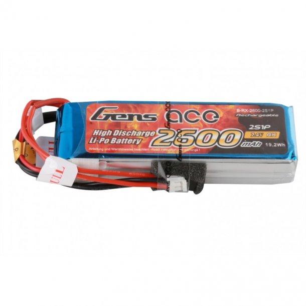 Gens ace 2600mAh 7.4V Lipo sender-batteri.
