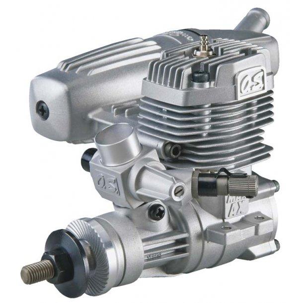OS 35AX 2-takt Metanolmotor, 5,77ccm med lyddæmper.