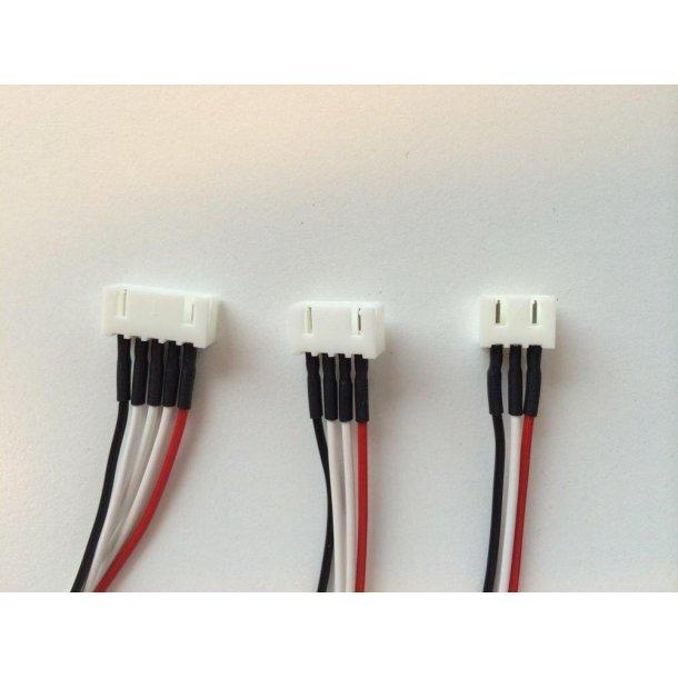 Kabel 4s med XH balancerstik, balancersiden