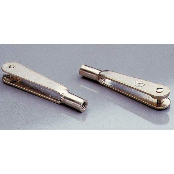 Link i metal til 2mm gevind, 10 stk