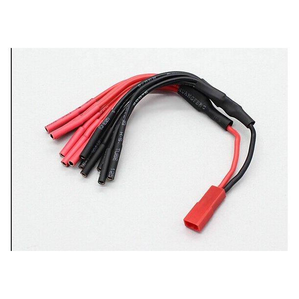 Power distributor med JST hanstik til 4 sæt 2mm