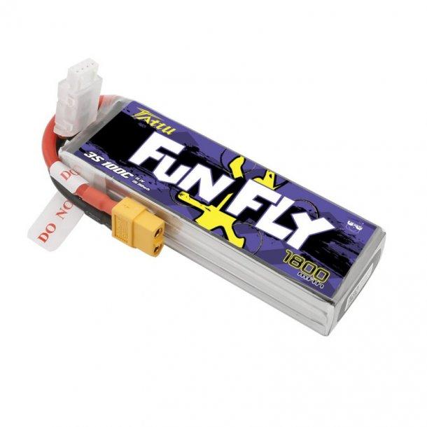 TATTU Funfly 1800mAh 11.1V 100C 3S Lipo batteri.