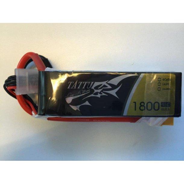 TATTU 1800mAh 14.8V 45C 4S Lipo batteri