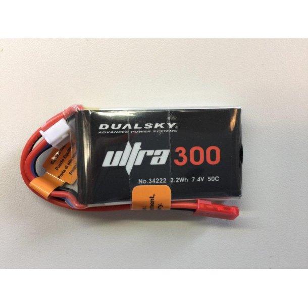 Dualsky LiPo batteri, 300mAh-2s, 50C