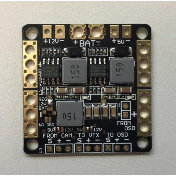 PDB001-PDB med 5V/12V BEC og LC filter