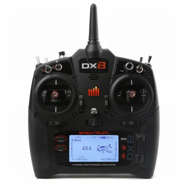 DX-8 G2 sender og AR8010T modtager