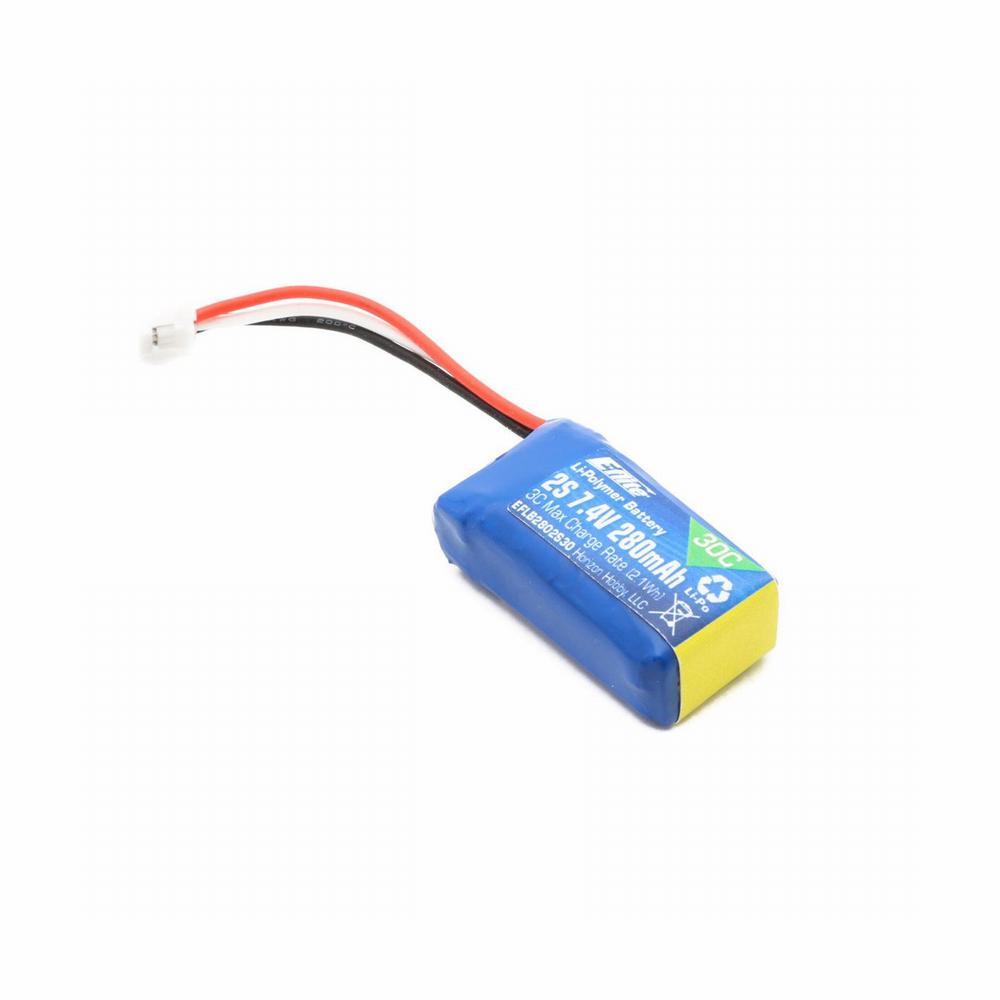 280mAh-2S LiPo batteri til Hobbyzone Champ S+ - Diverse små LiPo batterier - RC-Netbutik