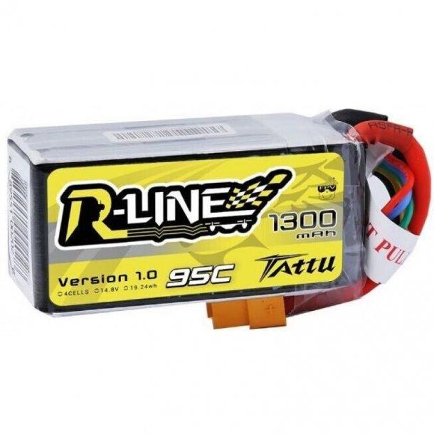 TATTU 1300mAh 14.8V 95C 4S R-Line Lipo batteri