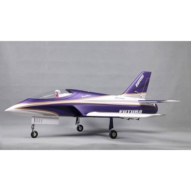 FMS 80mm Futura lilla jagerfly PNP. BESTILLINGSVARE.