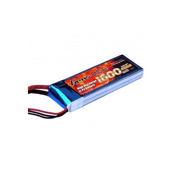 Gens ace 1600mAh 7.4V 40C Lipo batteri med XT60 stik.