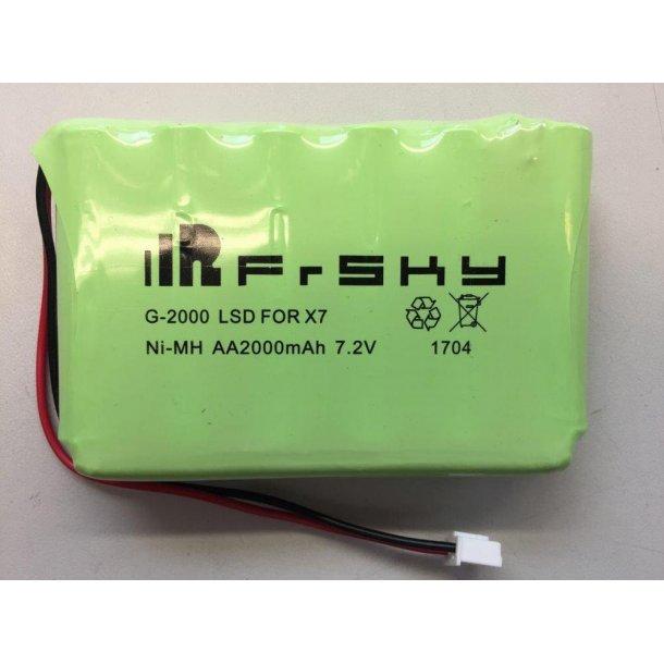 2000 mAh NiMH batteri til Q X7 sender fra FrSKY