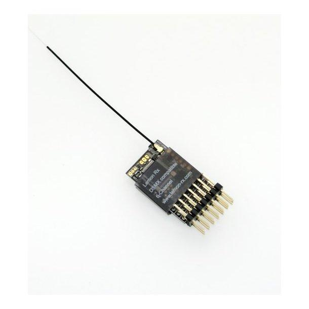 Lemon DSM2/DSMX Spektrum kompatibel 6-kanals modtager Endpin.