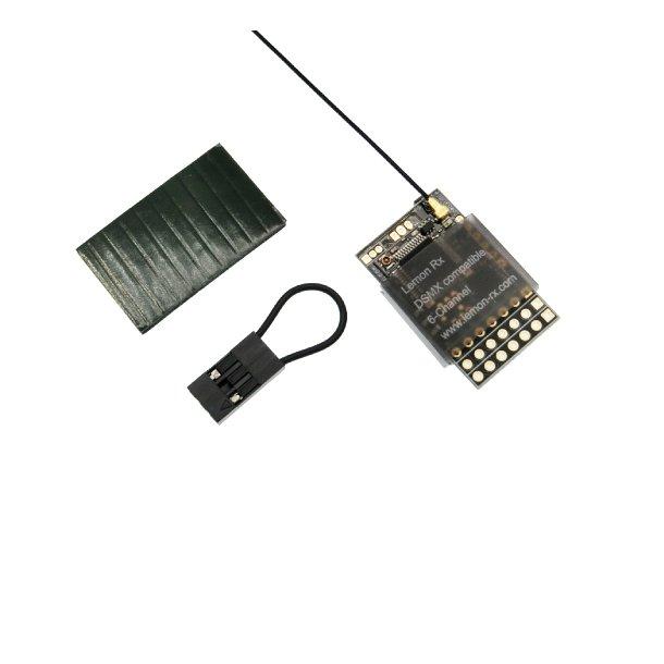 Lemon DSM2/DSMX Spektrum kompatibel 6-kanals modtager uden stik.
