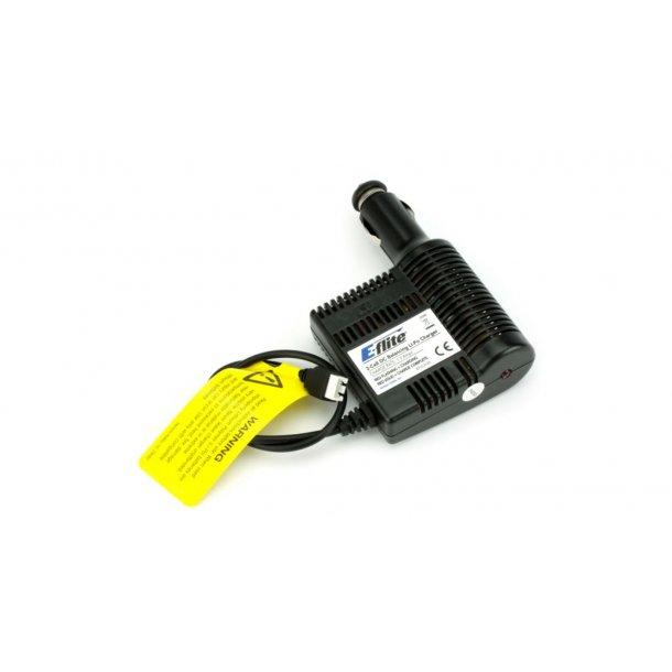 E-Flite lader/balancer for 2 celles LiPo, med cigartænderstik.