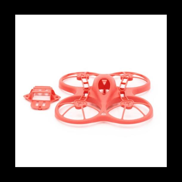 Ramme og batteriholder, pastelrød til Tiny Hawk FPV Quadcopter.