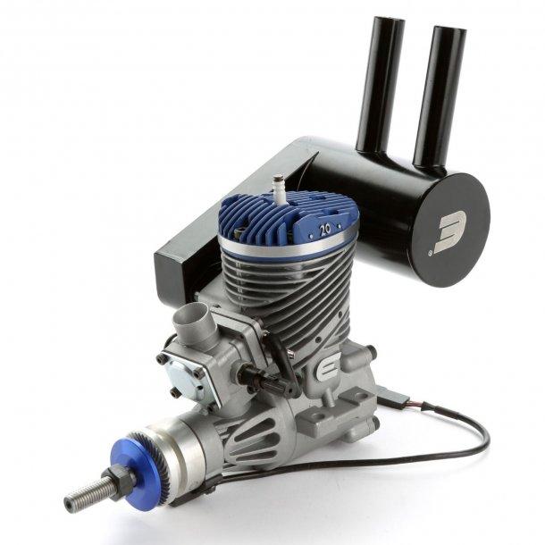 Evolution 20GX2 20cc Bensinmotor med pumpekarburator.
