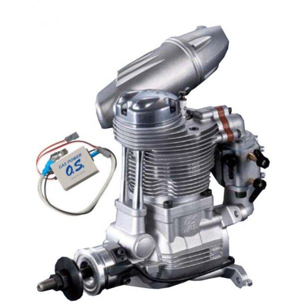 OS GF40 4-takt Bensinmotor, 39,9ccm med F-6040 lyddæmper.