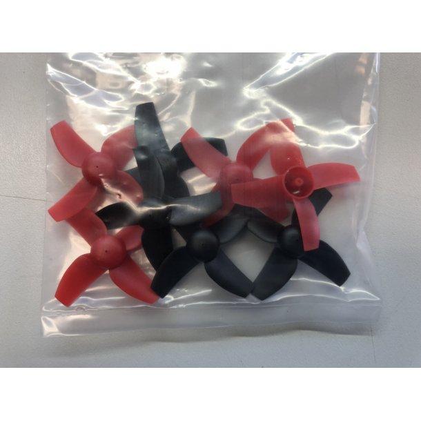 Propelsæt 8 stk. røde og sorte til Blade Inductrix FPV Plus.