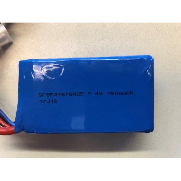 Lithium batteri, 1500mAh-2S passer til WLA959-B og WLA969-B.