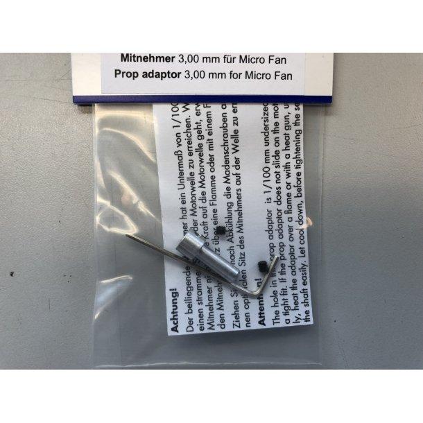 Wemotec adaptor til 3 mm aksel