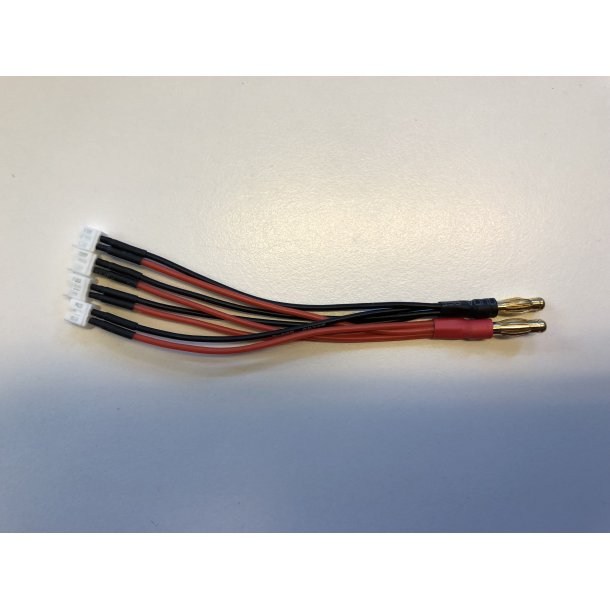 Ladekabel med 4 stk. stik til micro LiPo (PWC).