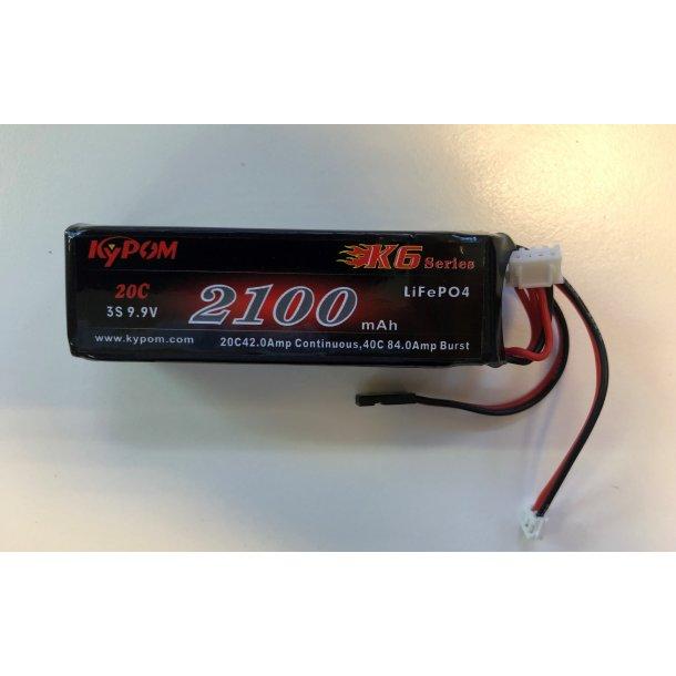 Sender batteri, LiFePO4 9,9V, 2100mAh.