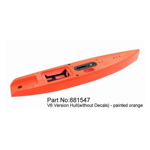 Skrog til Dragon Force DF65 V6 sejlbåd, Orange.