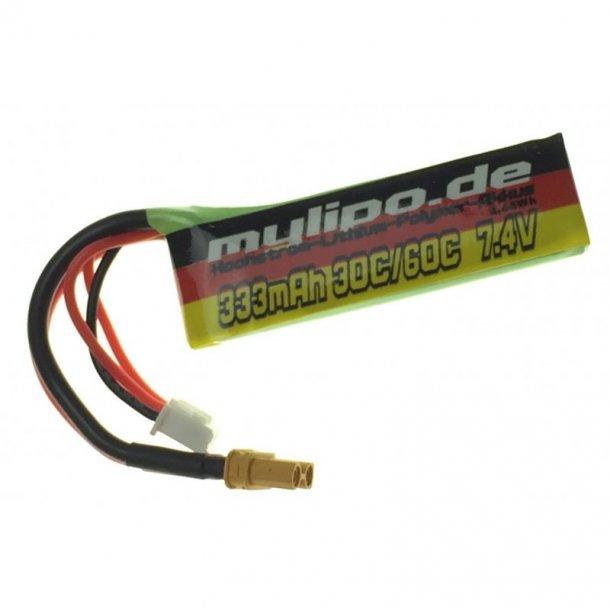 333 mAh-2S LiPo batteri, XT30 stik.