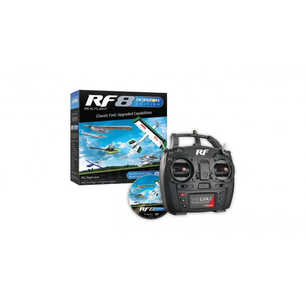 RealFlight RF-8, Horizon Hobby udgave, simulator med Interlink-X sender.