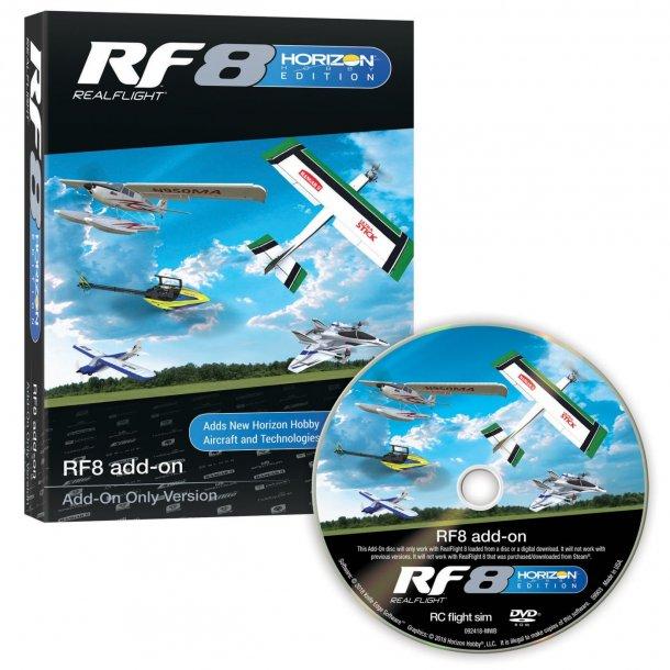 Realflight RF-8 Horizon Hobby udgave, Add-On simulator software.