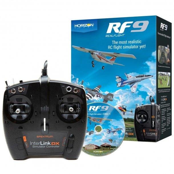 RealFlight RF-9, simulator med Interlink DX sender.