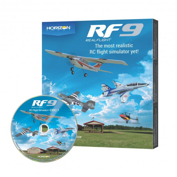 Realflight RF-9 simulator software.
