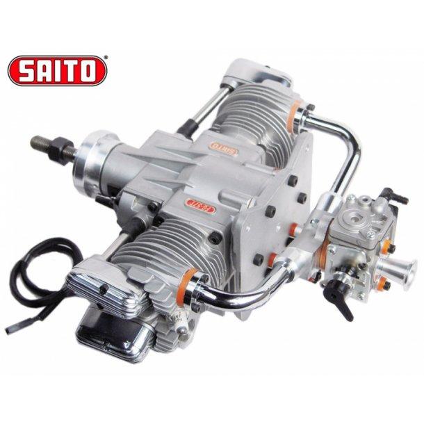 Saito FG-57TS 57cc 4-takt Bensin boksermotor.