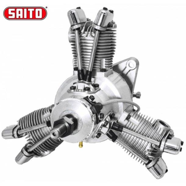 Saito FG-60R3 60cc 4-takt 3-cyl Bensin stjernemotor.