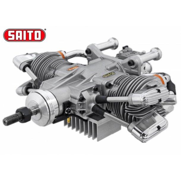 Saito FG-61TS 61cc 4-takt Bensin boksermotor.