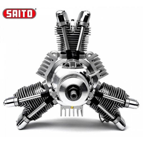 Saito FG-84R3 84cc 4-takt 3-cyl Bensin stjernemotor.